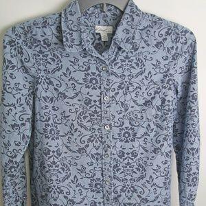Blue On Blue Kim Rogers Button Front Blouse